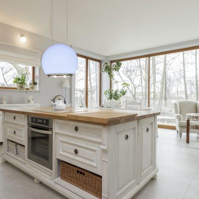 18918221 - tuscany - interior of white stylish kitchen